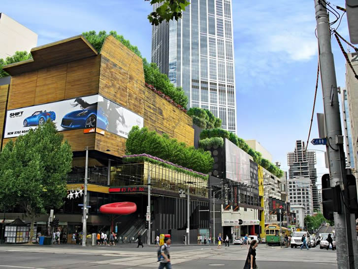 CBD StreetLevel CornerSwanstonLonsdale 1 - Growing Cities - A Vegi-Tecture