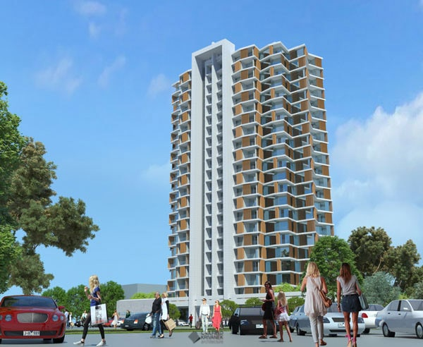 Staley Gardens scheme with people - Commercial Projects