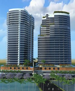 Plutus Towers - Full exterior view